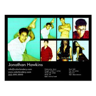 Schauspieler u. Modellschwarzer Headshot-Baut. Postkarte