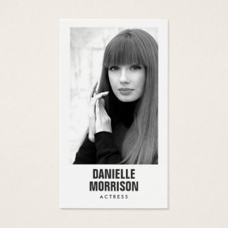 Schauspieler und Modelleklassische Visitenkarten