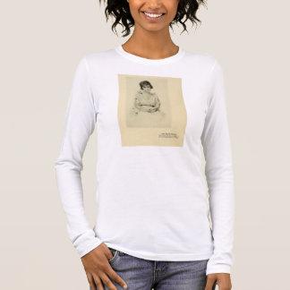 Schauspielerin 1916 des stillen Films Billie Langarm T-Shirt