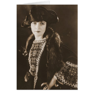 Schauspielerin Madge Bellamy 1922 Grußkarte