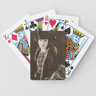 Schauspielerin Madge Bellamy 1922 Pokerkarten