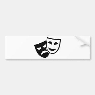 Schauspielermasken Autoaufkleber