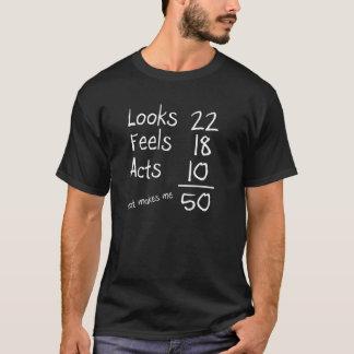 Schaut, glaubt, fungiert 50. Geburtstags-T-Stück T-Shirt