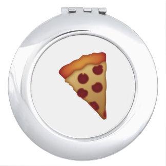 Scheibe der Pizza - Emoji Taschenspiegel