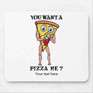 Scheibe der Pizza-tragenden Boxhandschuhe Mousepad