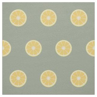 Scheibe der Zitrone Stoff