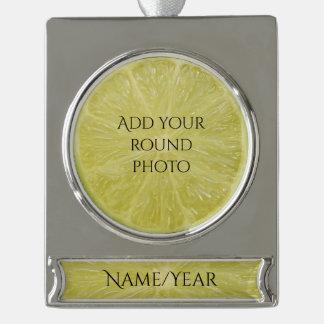 Scheibe von Limonem 1010 Banner-Ornament Silber