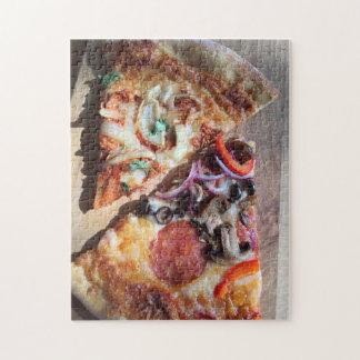 Scheiben der Pizza Puzzle