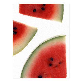 Scheiben der Wassermelone Postkarte