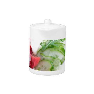 Scheiben des frischen rohen Gemüses
