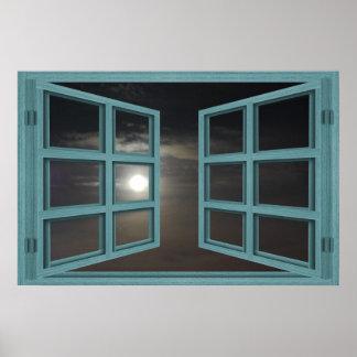 Scheiben-offenes Fenster-Plakat des Poster