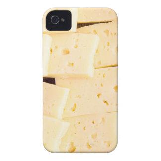 Scheiben trocknen harten gelben Käse auf einer iPhone 4 Case-Mate Hülle