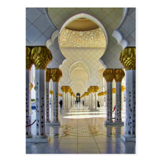 Scheich Zayed Grand Mosque Corridor Postkarte
