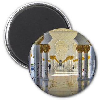 Scheich Zayed Grand Mosque Corridor Runder Magnet 5,7 Cm