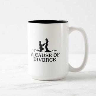 Scheidungsgrund der Nr.-1 Zweifarbige Tasse