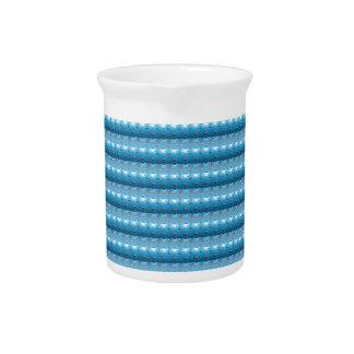 Schein-addieren blaues Künste-Muster DIY TEXT-FOTO Krug