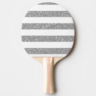 Schein-Glitter-Blick-StreifenPing Pong Paddel Tischtennis Schläger