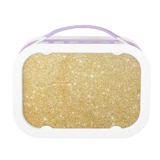 Schein-goldener stilvoller Glitter Brotdose