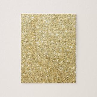 Schein-goldenes stilvolles puzzle