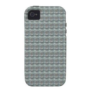 Schein-GRAUE graue Wasser-Grün-Muster-Grafik Vibe iPhone 4 Case