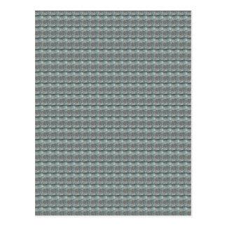Schein-GRAUE graue Wasser-Grün-Muster-Grafik Postkarte