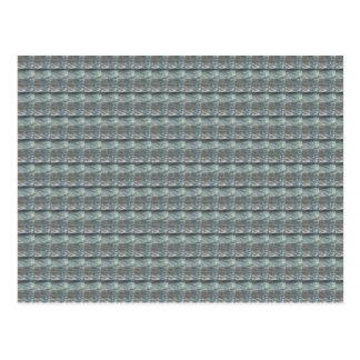 Schein-GRAUE graue Wasser-Grün-Muster-Grafik Postkarten