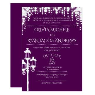 Schein-Lampen-Posten-Gala-Hochzeit 12,7 X 17,8 Cm Einladungskarte
