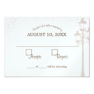 Schein-Lampen-Posten-Hochzeits-Wartekarte 8,9 X 12,7 Cm Einladungskarte