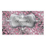 Schein-Schmuck-Visitenkartezebra-nobles Rosa Visitenkarten Vorlagen