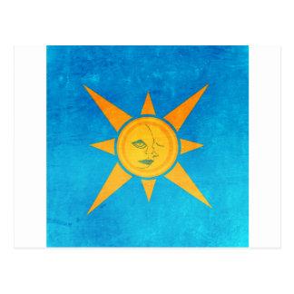 Scheinender Sun, Mond-Schlafen--Sonne- und Postkarte