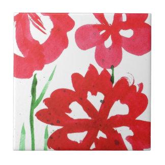 ScheinMarimekko Blumen Kleine Quadratische Fliese