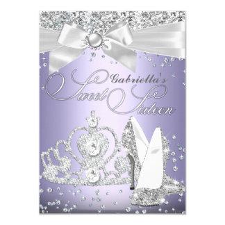 ScheinTiara u. Heels 16. Geburtstag lila 11,4 X 15,9 Cm Einladungskarte