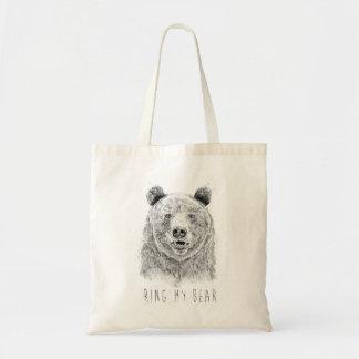 Schellen Sie meinen Bären (bw) Tragetasche