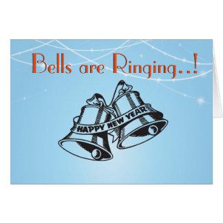 Schellentraditioneller Retro Silvesterabend bell Karte