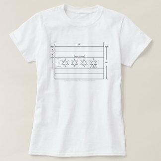 Schematisches Diagramm des Chicago-Flaggen-T - T-Shirt