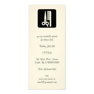 Scheren und Kamm-Haar-Geschäfte 10,2 X 23,5 Cm Einladungskarte