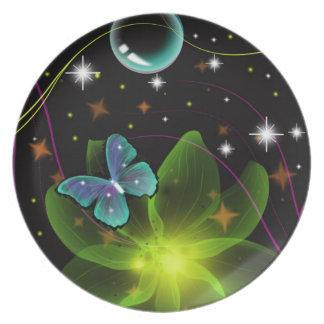 Scherzender Schmetterling Melaminteller
