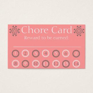 Scherzt AufgabenLochkarte Visitenkarten