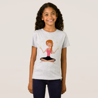 Scherzt Designer-T - Shirtgrau mit Yoga asana T-Shirt