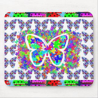 SCHERZT Liebe Butteryflies einfache, den DIY Knopf Mousepad