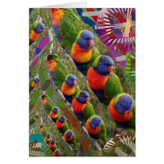SCHERZT Liebe Papageien Karte