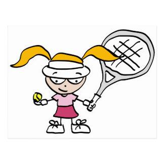 Scherzt Tennis Postkarte