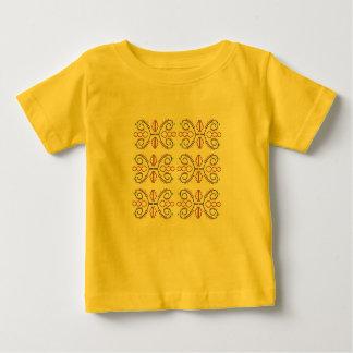 Scherzt tshit Gelb mit Verzierungen Baby T-shirt