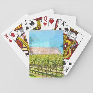 Scheune in einem Weinberg in Napa Valley Spielkarten