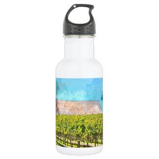 Scheune in einem Weinberg in Napa Valley Trinkflasche