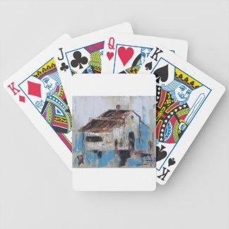 Scheune mit den antiken und rustikalen Farben des Bicycle Spielkarten