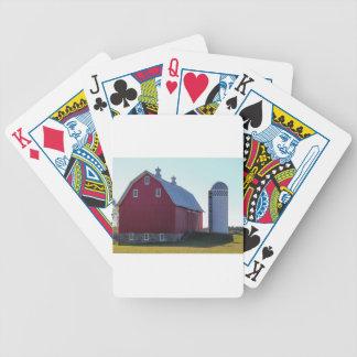 Scheune und Silo Bicycle Spielkarten