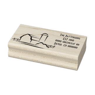 Scheunen-Adressen-Briefmarke Gummistempel