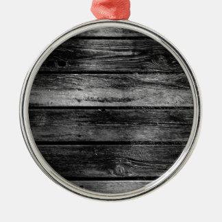 Scheunen-Holz Silbernes Ornament