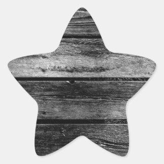 Scheunen-Holz Stern-Aufkleber